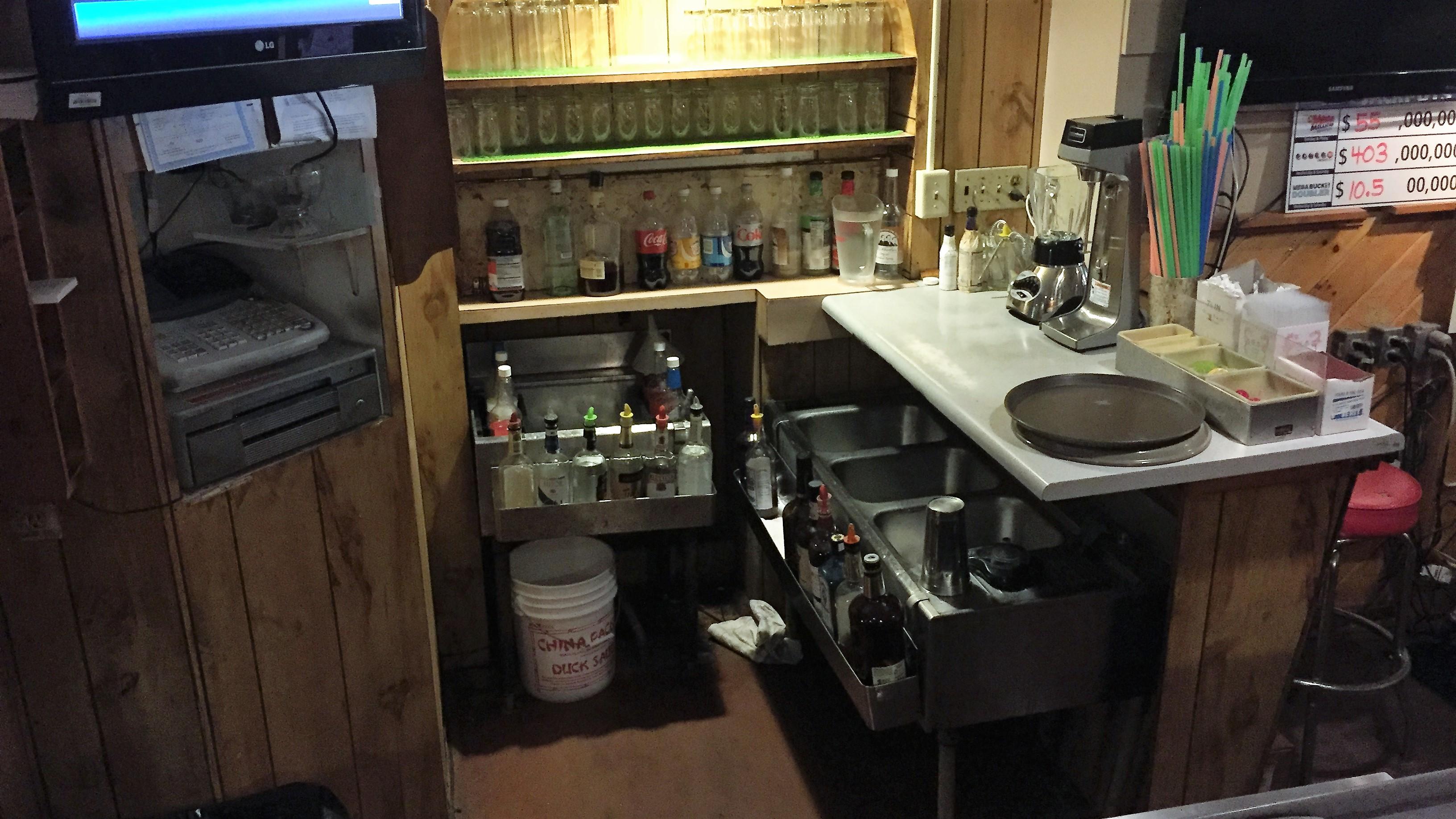 restaurant prep area