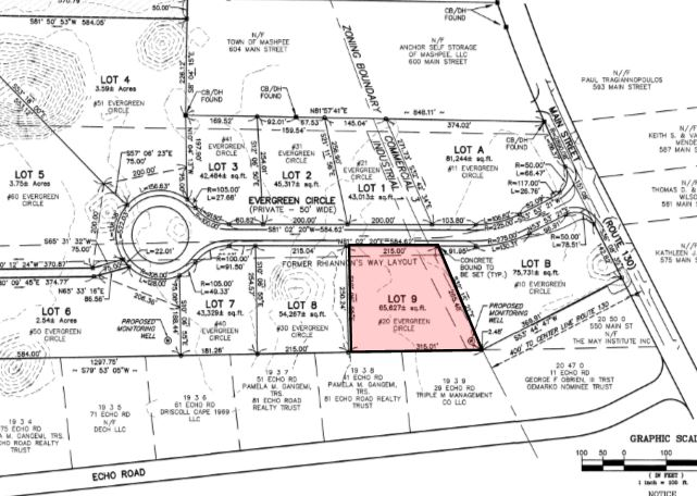 20 Evergreen Circle, Mashpee, MA: 1.5+/- Acre Commercial / Industrial Lot for Sale