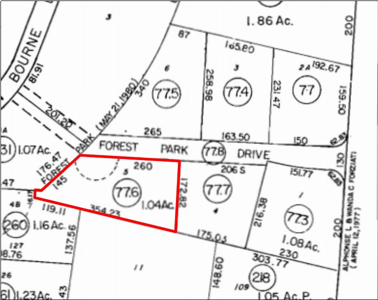 5 Forest Park Dr, Pocasset, MA: 1.04+/- Acre Commercial Lot for Sale in Bourne, Cape Cod